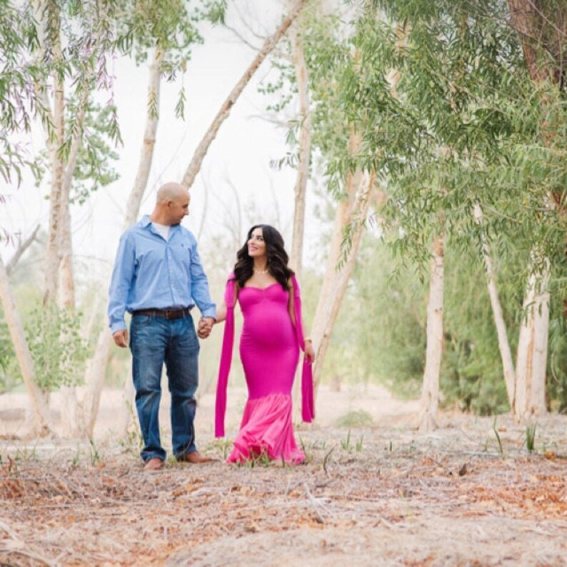 Maternity Gown for Photo Shot Blake Maternity ~ Fitted Maternity ~ Sweetheart Maternity ~ Maternity Wedding ~ Couture Parfait