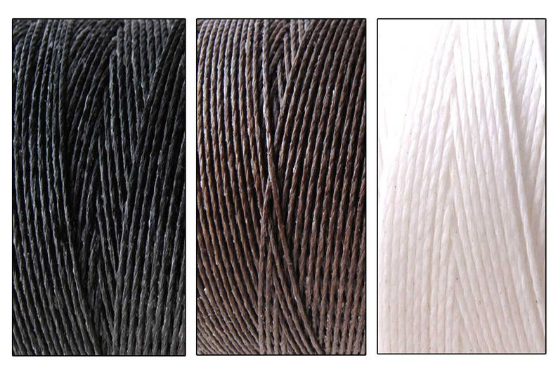 6 Yards Waxed Cord for knotting bracelets and necklaces image 0