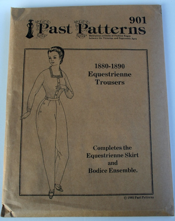 Pattern: Past Patterns 901 1880s-1890s Riding Habit Pants