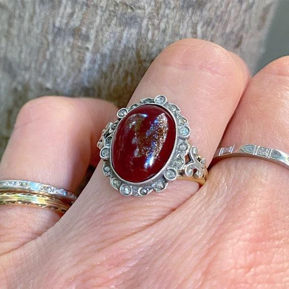 Victorian Garnet and Diamond Ring