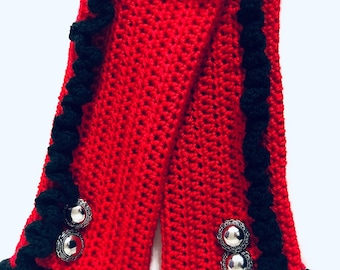 Crocheted Fingerless Gloves Steampunk