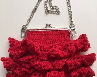 Crocheted Small Purse Small Bag Phone Purse