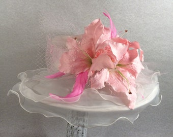 White P8nk Kentucky Derby Hat