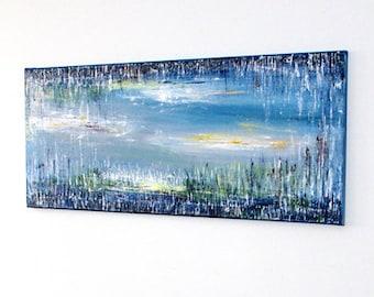 Large original painting Large canvas art, Abstract canvas art, Large paintings on canvas, Acrylic painting, Modern landscape painting