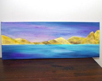 Landscape paintings Mountains painting acrylique - Canvas art - acrylic art - mountain acrylic paintings - peinture acrylique quadri
