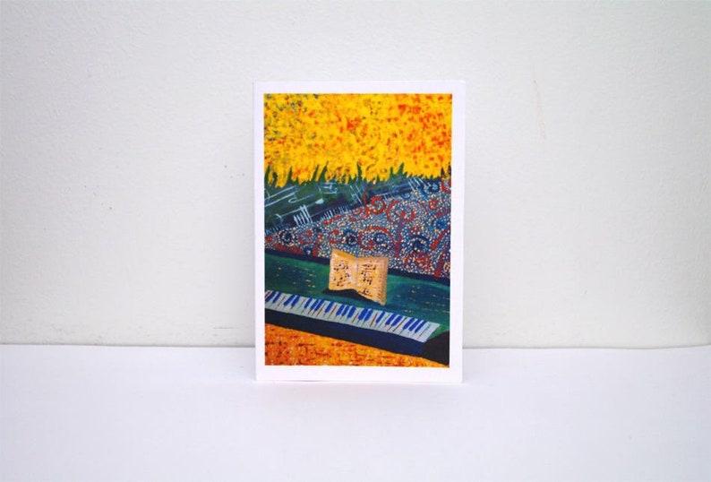 Music Teacher Gift Thank You Card Piano