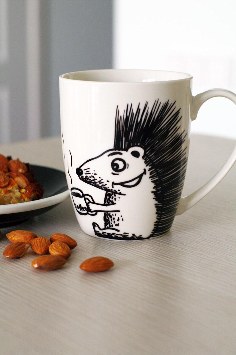 Hedgehog Mug Hedgehog Gifts Hedgehog Cup Hedgehog Coffee Mug Cute Hedgehog Mug
