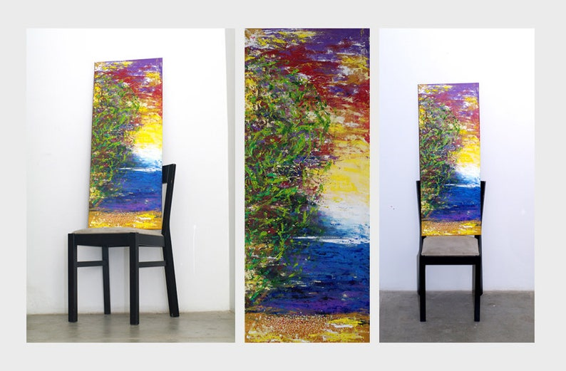 Large long vertical wall art Vertical artwork Large vertical image 0