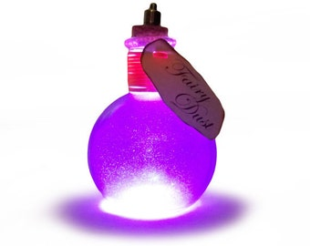 Light Up Bottles Fairy Dust ~Purple, Fairy in a Bottle