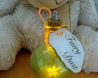 Light Up Bottles- Fairy Dust ~Green