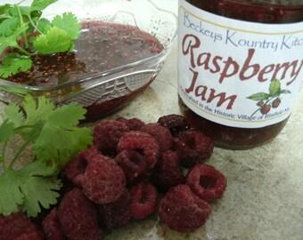 Jam. Raspberry.Homemade Raspberry Jam, Handmade fruit spread, Deliciously Sweet, jam & jelly. Raspberry Jam fruit preserves