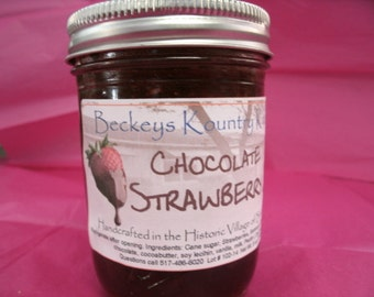 Chocolate Strawberry Jam, fruit preserves homemade jam & jelly handcrafted deliciously sweet