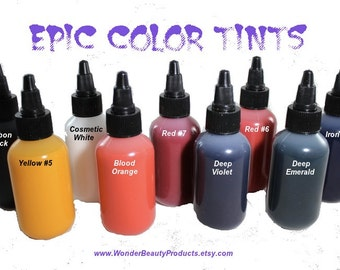EPIC Color Tints - Intense Liquid Colorants - Nail Polish Crafting - 1/2 oz Sampler - 8 oz - Your Choice