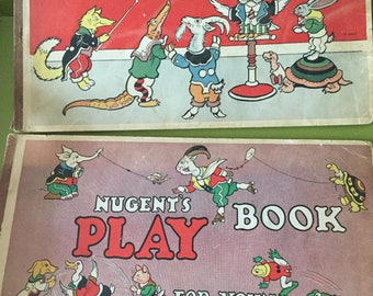 Two Large 1931 Whitman's Publishing AW Nugent's Book of 103 Games/Play Book for Young and Old