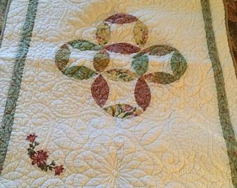 Vintage Cotton Standard Sized Pillow Case Cover/Sham-Quilt