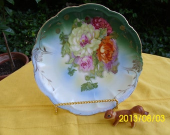 Antique Cabinet/Cake Serving/Bakery/Dessert/Collectable Plate/Dish-Must See-Multi Colored Floral