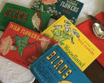 Whitman Publishing Company Assorted Field/Guide Books-Wildflowers/Birds/Garden/Woodland