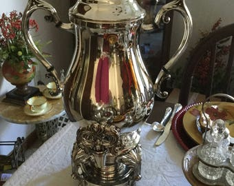Stunning FB Rogers Victorian Silverplate Samovar/Coffee/Water Pot-Spiget-Ornate Baroque Serving