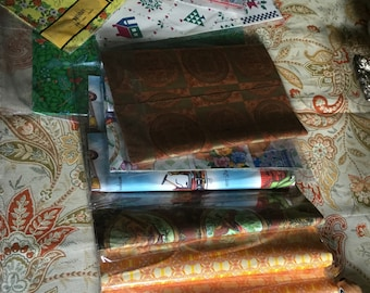 Lot of 15 Packages Vintage Wrapping Paper-Very Good Condition-Paper/Craft/Frame