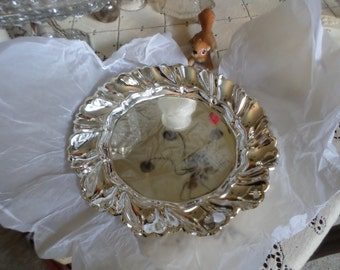 Gorgeous Vintage Silverplate Fluted Plate Charger/Serving Dish/Decorative/Table Setting