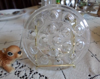 Vintage Glass Flower Frog/Centerpiece/Floral Crafting Piece