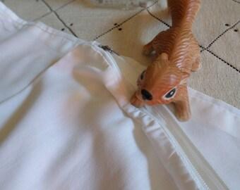 Five Pieces-Vintage Standard Linen/Silk Zippered Pillow Cases-Various Makers