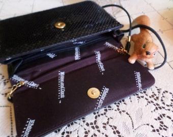 Vintage Whitting and Davis International Metal Work Hand Bag/Shoulder/Purse-Black