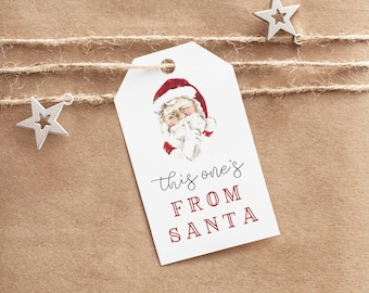 Editable From Santa Christmas Gift Tags, Holiday Secret Santa Gift Tags, Customizable Christmas Gift Tags Instant Download [id:5492832]