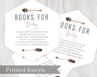 Tribal Baby Shower Baby Shower Book Request Insert Card