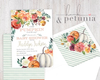 Fall baby shower invitations etsy little pumpkin baby shower invitation fall baby shower invitation autumn baby shower lined envelopes filmwisefo