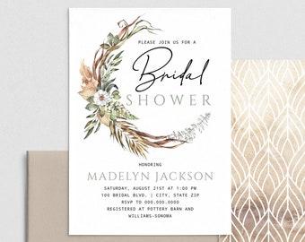 Safari Bridal Shower Invitation, Neutral Bridal Shower Digital Invite Template, Savannah Bridal Shower Instant Download [id:4399911,4400220]