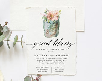 Special Delivery Baby Shower By Mail Invitation, Mailbox Baby Shower Baby Shower Digital Invite Template, Instant Download [id:6041737]