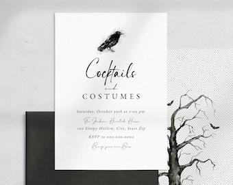 Customizable Modern Minimalist Halloween Party Invitation, Costume Halloween Party Invite Template, Instant Download [id:8722404]
