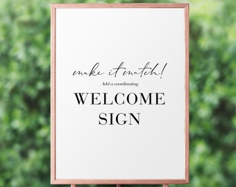 Digital Coordinating Welcome Sign, Shower Sign, Birthday Sign