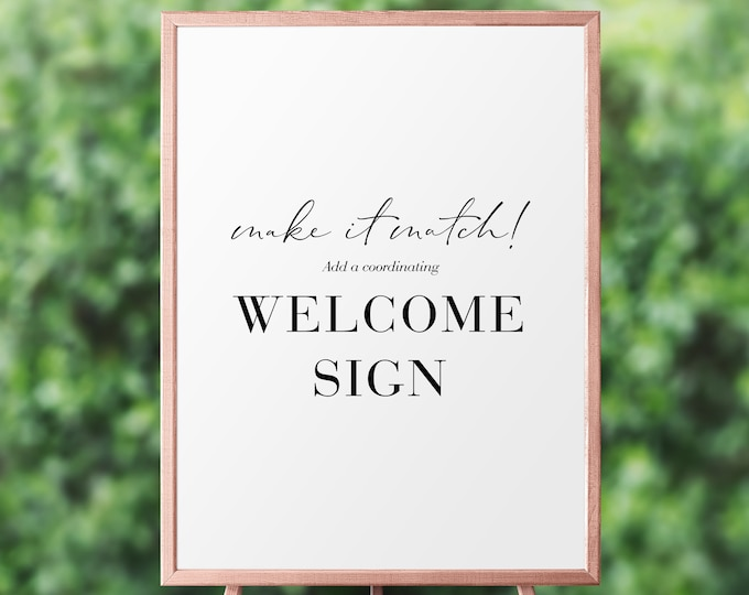 Featured listing image: Digital Coordinating Welcome Sign, Shower Sign, Birthday Sign