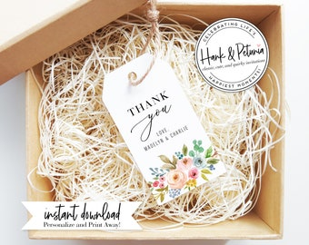 Couples Wedding Shower Favor Tags, Wedding Favor Tags, Co-Ed Shower Favor Tags, Instant Download [id:2025421]