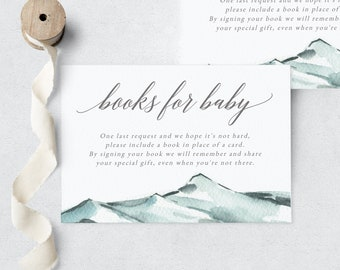 Stork Baby Shower By Mail Book Request Insert Card, Special Delivery Books for Baby Insert, Instant Download [id:6239732]