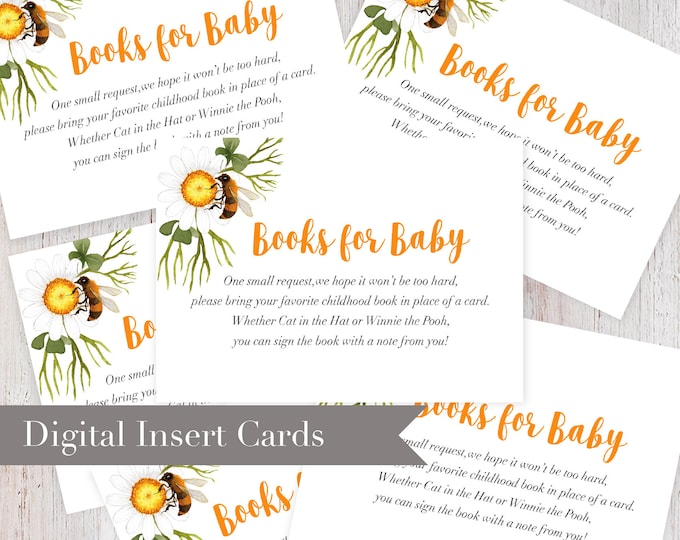 Digital Printable What Will It Bee Books for Baby Insert Card
