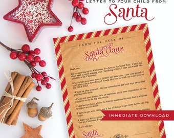 Letter from santa etsy spiritdancerdesigns Choice Image