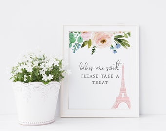 Customizable Paris Baby Shower Customizable Sign, France Baby ShowerParty Sign, Baby Shower Signs and Decor, Instant Download [id:4845545]