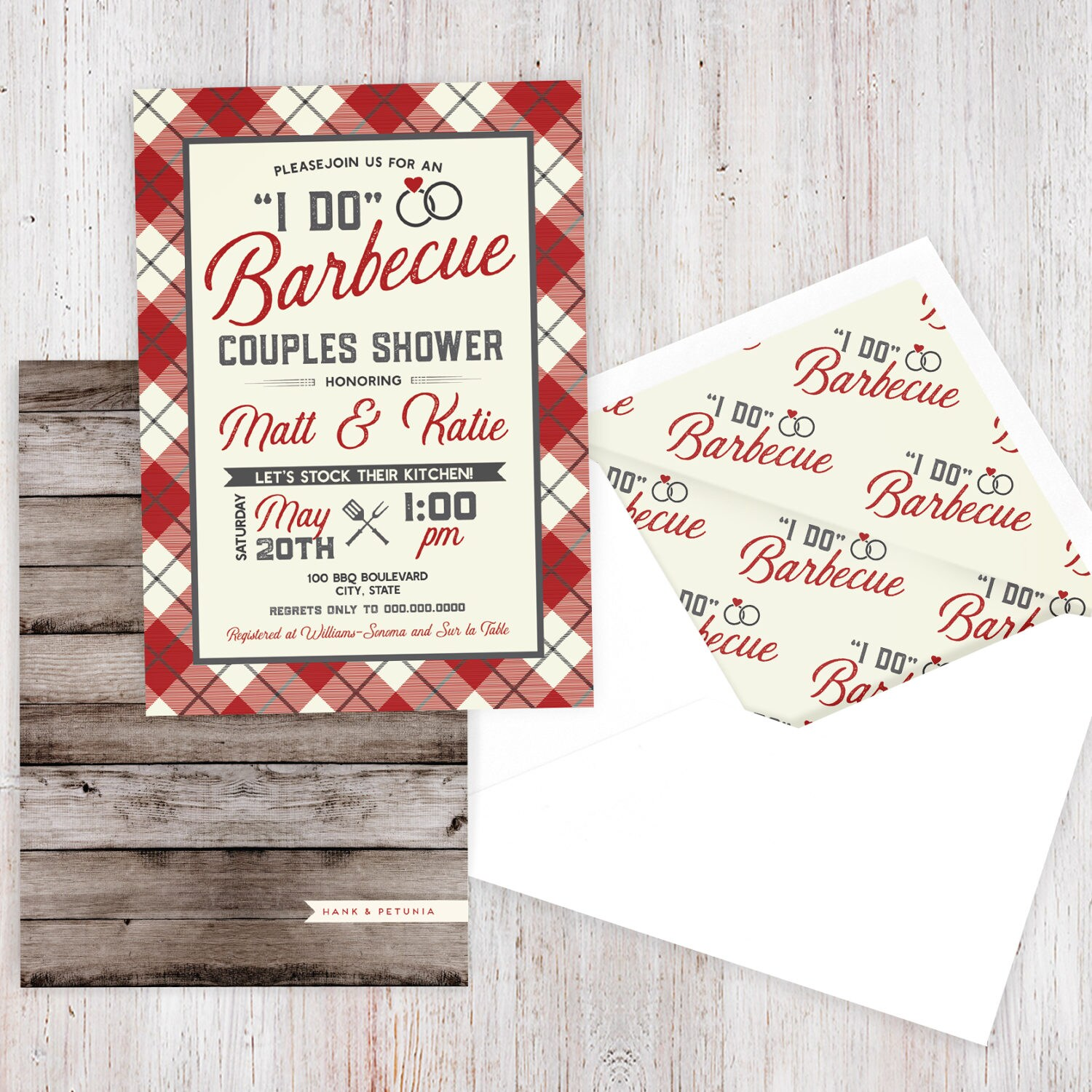 BBQ Couples Shower Invitation, Barbecue Bridal Shower Invite ...