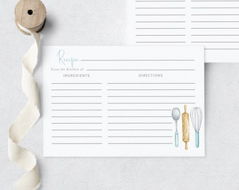 Recipe Cards & Inserts