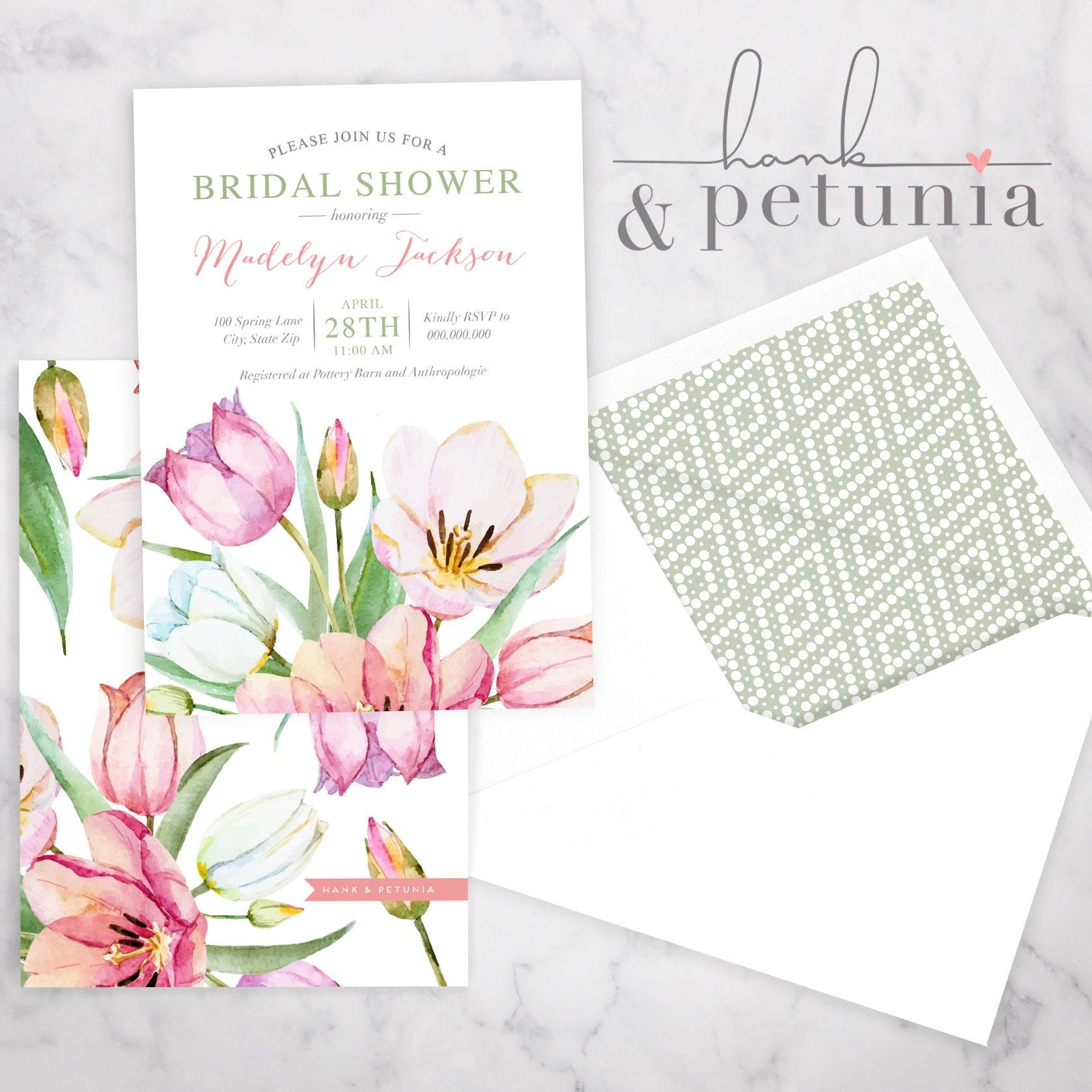 Spring tulips bridal shower invitation spring bridal shower invite spring tulips bridal shower invitation spring bridal shower invite bridal shower invite envelope liner filmwisefo