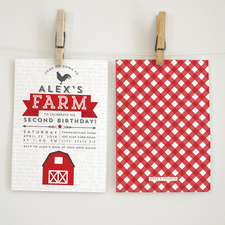 Farm Birthday Party Invitation, Farm Birthday, Petting Zoo Party ...