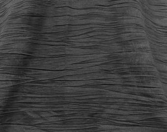 09c2a3f9b6f Black Crinkled Stretch Jersey, Black Jersey, Crinkled Fabric, Flowy Material,  Table Runner, Remnant Fabric, Stretch Jersey