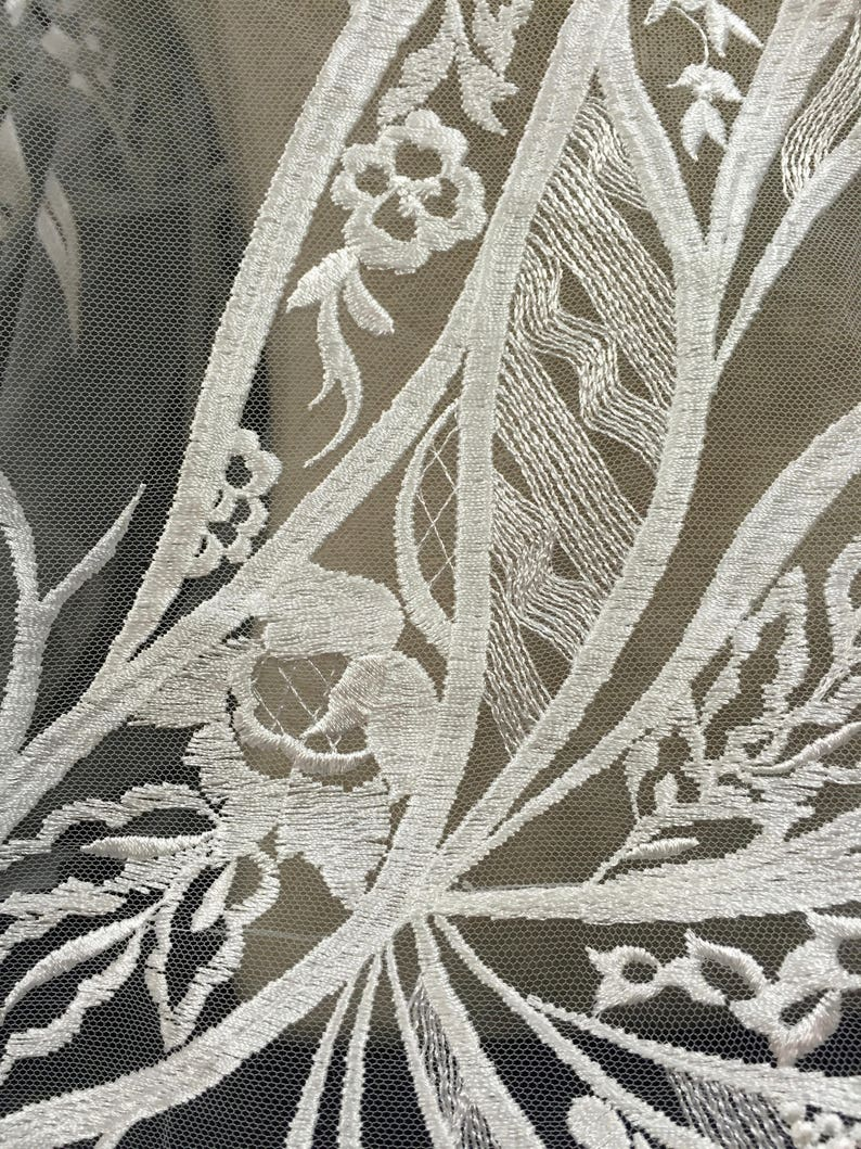 Wedding Dress Lace White Fabric Bridal Fabric Lace Fabric Embroidered Tulle light ivory Lace Material