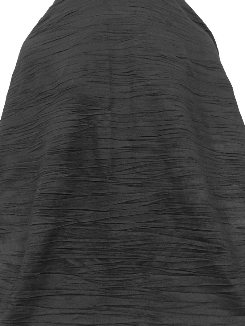 1ec408d0b12 Black Crinkled Stretch Jersey Black Jersey Crinkled Fabric | Etsy