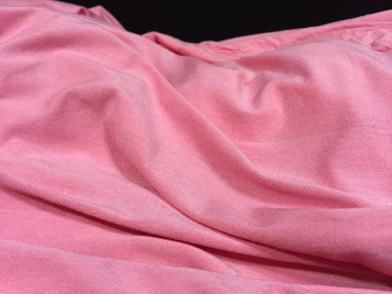 Pink Stretch Pink Fabric 2yards -Pink Jersey Fabric Drapery Material Remnant Stretch Material Upholstery Fabric Pillow Cover Fabric