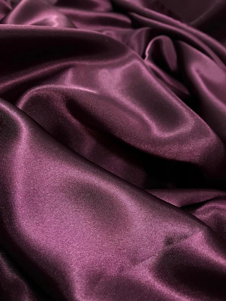 Soft Fabric Fabric Purple Satin Fabric Purple Polyester Satin Dress Material Flowy Fabric Purple Flowy Fabric Shiny Material