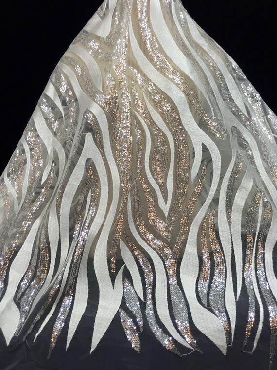 Tissu de paillettes, en robe en paillettes, dentelle mariage d'argent paillettes dentelle, dentelle, Sequin matériel, Unique dentelle, dentelle de mariée, 387d4b